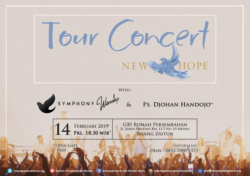 "6. Symphony Worship mengadakan ""Tour Concert New Hope"""